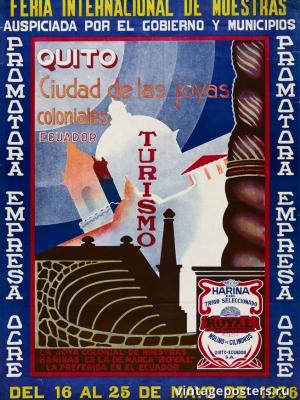 """Купить для интерьера на стену Постер """"Международная выставка"""" Эквадор 1936"""