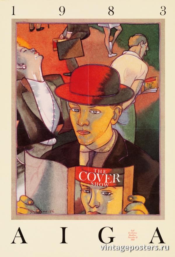 """Купить для интерьера на стену Постер """"Выставка обложек AIGA"""" США 1983"""