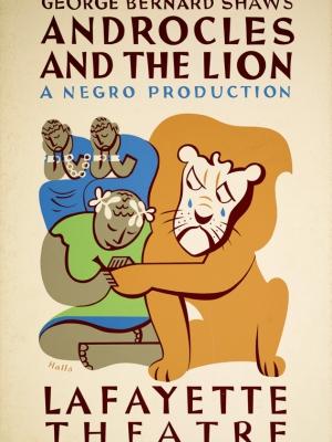 """Купить для интерьера на стену Постер """"Бернарда Шоу. Андрокл и лев"""" США 1938"""