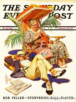 """Купить для интерьера на стену Постер """"Обложка журнала The Saturday Evening Post"""" США февраль 1937"""