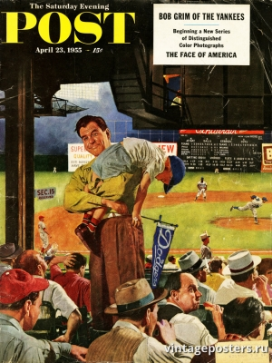 """Купить для интерьера на стену Постер """"Обложка журнала The Saturday Evening Post"""" США апрель 1923"""
