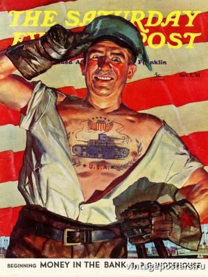 """Купить для интерьера на стену Постер """"Обложка журнала The Saturday Evening Post"""" США ноябрь 1941"""