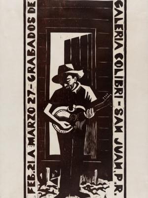 """Купить для интерьера на стену Постер """"Гравюры Хосе Алисия"""" Пуэрто-Рико 1968"""