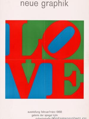 """Купить для интерьера на стену Постер """"Любовь. Новая графика"""" Германия 1968"""