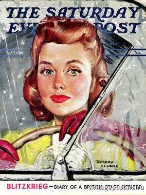 """Купить для интерьера на стену Постер """"Обложка журнала The Saturday Evening Post"""" США декабрь 1940"""