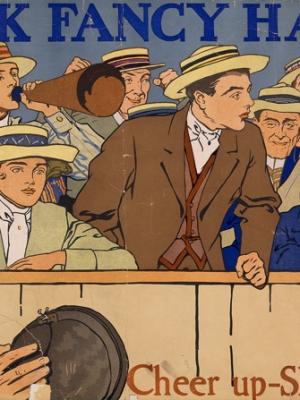 """Купить для интерьера на стену Постер """"Ленты для шляп Вик. Поднимись, покажи свой цвет"""" США 1910"""