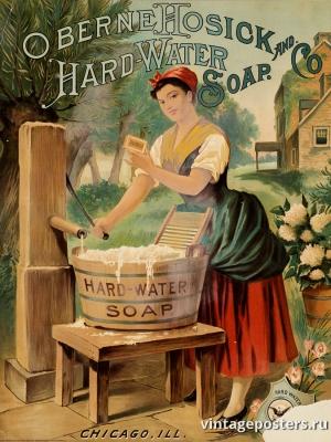 """Купить для интерьера на стену Постер """"Мыло для жесткой воды"""" США 1886"""