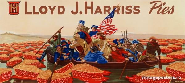 """Купить для интерьера на стену Постер """"Пироги Ллойда Харриса"""" США 1947"""