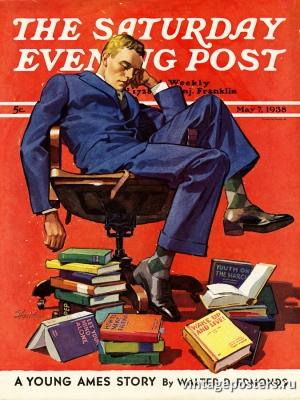 """Купить для интерьера на стену Постер """"Обложка журнала The Saturday Evening Post"""" США май 1938"""