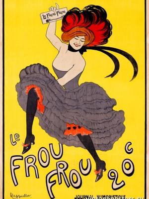 """Купить для интерьера на стену Постер """"«Фру-фру» — юмористический журнал"""" Франция 1899"""