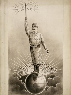 """Купить для интерьера на стену Постер """"Монархи сферы. Чемпионы Сент-Луиса"""" США 1886"""