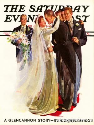 """Купить для интерьера на стену Постер """"Обложка журнала The Saturday Evening Post"""" США июнь 1937"""