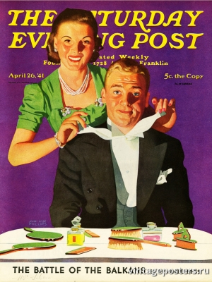 """Купить для интерьера на стену Постер """"Обложка журнала The Saturday Evening Post"""" США апрель 1941"""