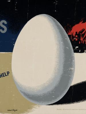 """Купить для интерьера на стену Постер """"Нашим союзникам нужны яйца"""" США 1940"""