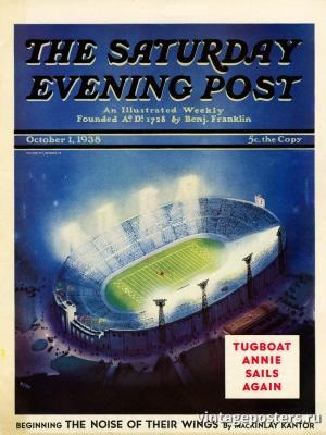 """Купить для интерьера на стену Постер """"Обложка журнала The Saturday Evening Post"""" США октябрь 1938"""