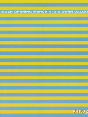 """Купить для интерьера на стену Постер """"Ричард Бэрингер, галерея Двэн, Нью-Йорк"""" США 1967"""