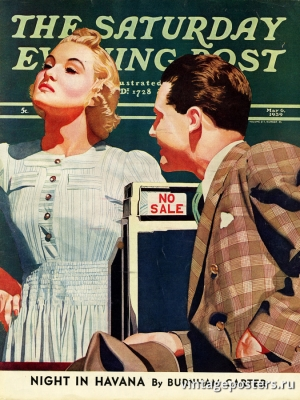 """Купить для интерьера на стену Постер """"Обложка журнала The Saturday Evening Post"""" США май 1939"""