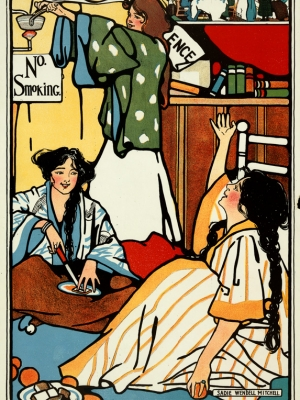 """Купить для интерьера на стену Постер """"Маленькие часы"""" США 1909"""