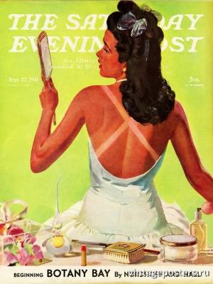 """Купить для интерьера на стену Постер """"Обложка журнала The Saturday Evening Post"""" США сентябрь 1941"""