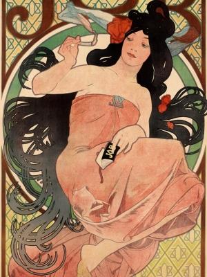 """Купить для интерьера на стену Постер """"Сигаретная бумага JOB"""" Франция 1898"""
