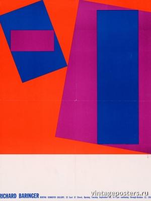 """Купить для интерьера на стену Постер """"Ричард Бэрингер. Галерея Берты Шефер"""" США 1977"""