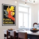 """Постер для интерьера кухни: """"Florio Cinzano"""""""