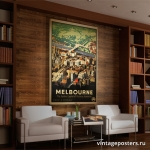 """Постер для интерьера ресепшена: """"Мельбурн"""""""
