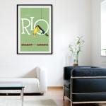 "Постер для интерьера гостинной: ""Rio by Braniff"""