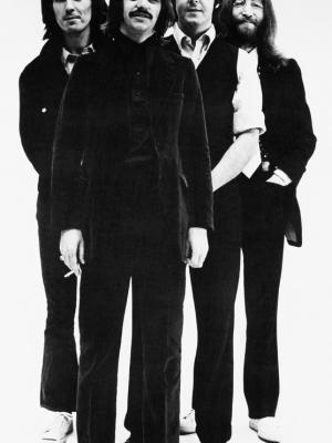 """Винтажный Ретро Постер """"«Битлз» в студии"""" Англия 1975 для интерьера купить"""