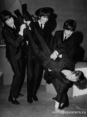 """Винтажный Ретро Постер """"День Рождения Ринго Старра"""" Англия 1964 для интерьера купить"""