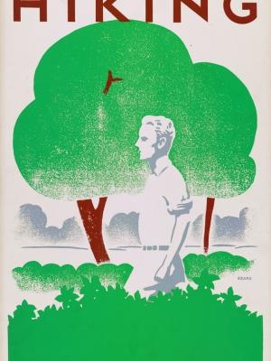 """Купить для интерьера на стену Постер """"Пеший туризм"""" США 1939"""