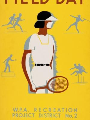 """Купить для интерьера на стену Постер """"Спортивный день"""" США 1939"""