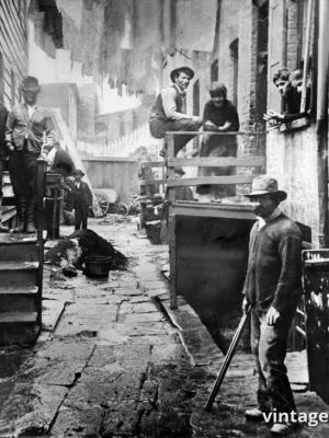 """Винтажный Ретро Постер """"Жители «Разбойничьего гнезда»"""" США 1890 для интерьера купить"""