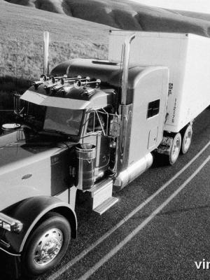 """Винтажный Ретро Постер """"Freightliner"""" США 1999 для интерьера купить"""