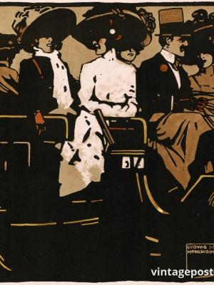 """Купить для интерьера на стену Постер """"Карета"""" Германия 1930"""