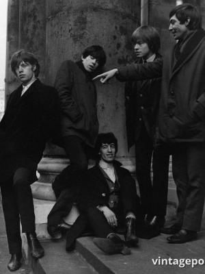 """Винтажный Ретро Постер """"Молодые «Rolling Stones»"""" США 1963 для интерьера купить"""