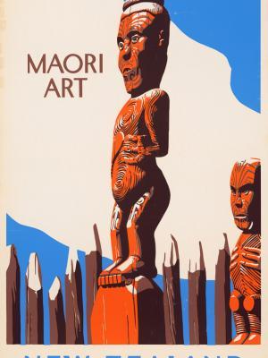 """Винтажный Ретро Постер """"Традиционное искусство маори"""" Новая Зеландия 1940 для интерьера купить"""