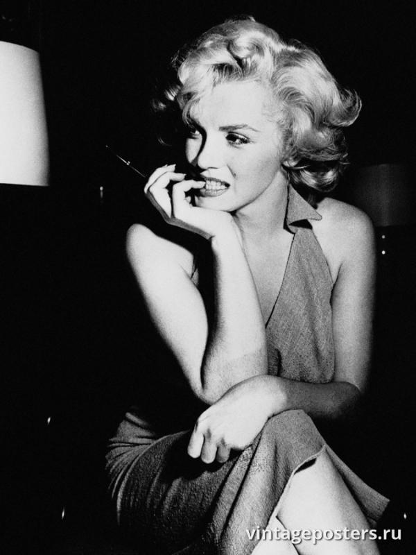 """Винтажный Ретро Постер """"Мэрилин Монро в Лос Анджелесе, Калифорния"""" США 1952 для интерьера купить"""