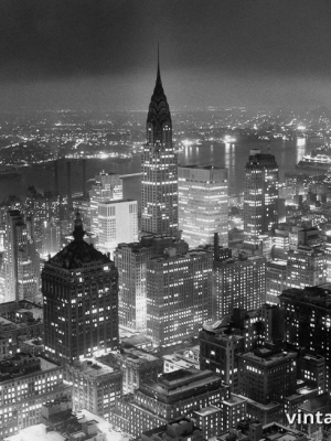 """Винтажный Ретро Постер """"Вид Манхэттена из здания «RCA»"""" США 1957 для интерьера купить"""