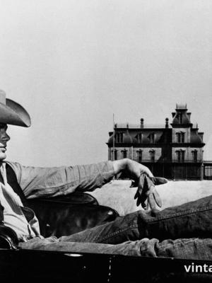 """Винтажный Ретро Постер """"Джеймс Дин в к/ф «Гигант»"""" США 1956 для интерьера купить"""