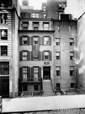 """Винтажный Ретро Постер """"Нью-Йорк, 28 East 20th Street"""" США 1923 для интерьера купить"""