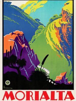 """Винтажный Ретро Постер """"Заповедник «Мориальта» — всего в 8 милях от Аделаиды"""" Австралия 1940 для интерьера купить"""