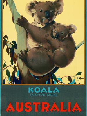"""Винтажный Ретро Постер """"Коала — австралийский медведь-эндемик"""" Австралия 1930 для интерьера купить"""