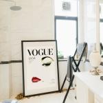 """Постер для интерьера ванной комнаты: Обложка журнала """"Vogue 1950"""""""
