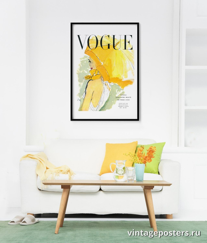 """Постер для интерьера гостинной: Обложка журнала """"Vogue"""""""