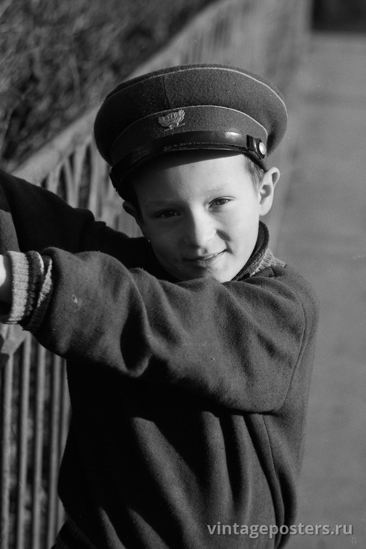 Фото старой Москвы 1950 годов: Юный москвич. 1956г