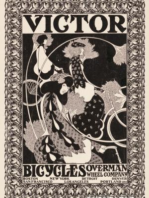 """Винтажный Ретро Постер """"Велосипеды Victor"""" США 1895 для интерьера купить"""