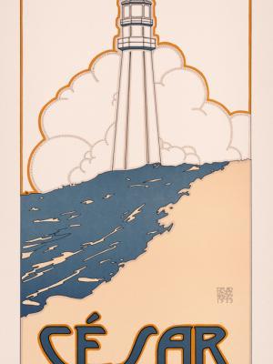 """Винтажный Ретро Постер """"к/ф «Сезар» Марселя Пиньоля"""" США 1973 для интерьера купить"""