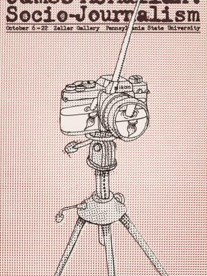 """Винтажный Ретро Постер """"Джеймс Макмуллан, социо-журналистика"""" США 1985 для интерьера купить"""