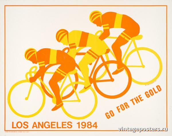 """Винтажный Ретро Постер """"Лос-Анджелес 1984 — Вперед за золотом"""" США 1984 для интерьера купить"""
